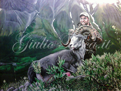Jim Grand Slam Ram British Columbia 50x40 - Jahr 2012 - Private collection